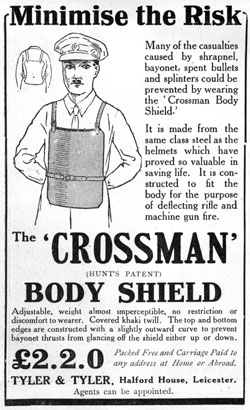 Crossman body shield