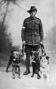 Dogs WW1 keeper and dogs