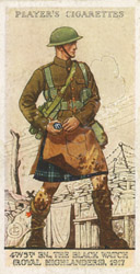 Kilt cigarette card