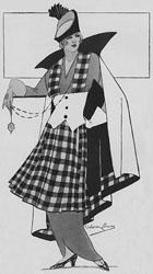 Kilt fashion illustration 1