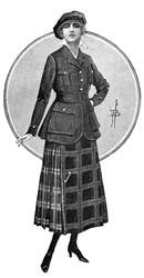 Kilt fashion illustration 2