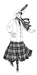 Kilt fashion illustration 3