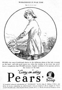 Beauty in wartime pears landgirl
