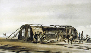 Nissen watercolour erecting