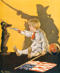 Dachshund nursery illustration
