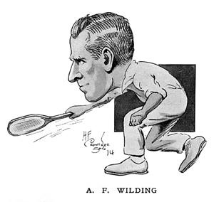 AF Wilding caricature