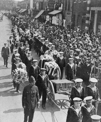 Jack Cornwell - funeral pic