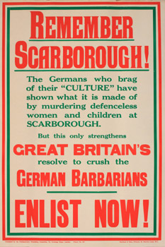 Bombardment remember scarborough letterpress