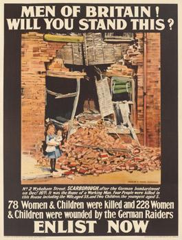 Bombardment men of britain poster